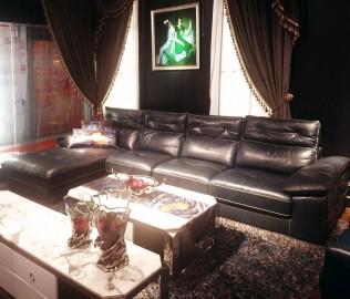 非同家具,半皮沙发,客厅家具