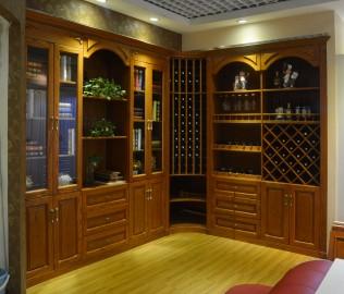 华美风情,实木酒柜,实木书柜