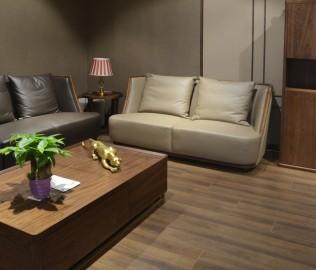 沙发,核桃木,皮沙发