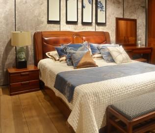 意风,床头柜,实木家具