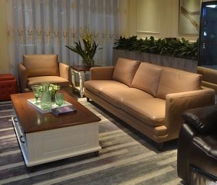 顾家家居,三人沙发,真皮沙发