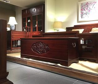 祥华坊,樟木坐柜,古典家具