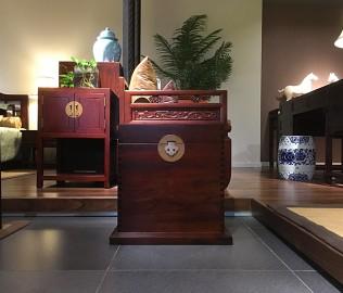 祥华坊,樟木坐箱,古典家具