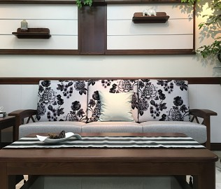 双叶家具,三人沙发,客厅家具