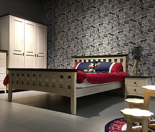 曲美家居,单人床,卧室家具