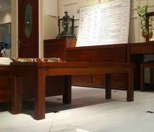 莫霞,实木家具,床尾凳