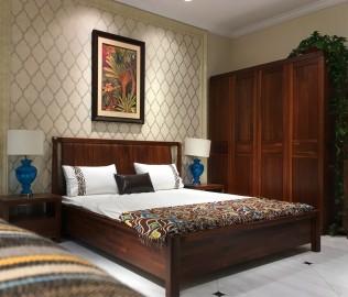 莫霞,实木家具,床头柜