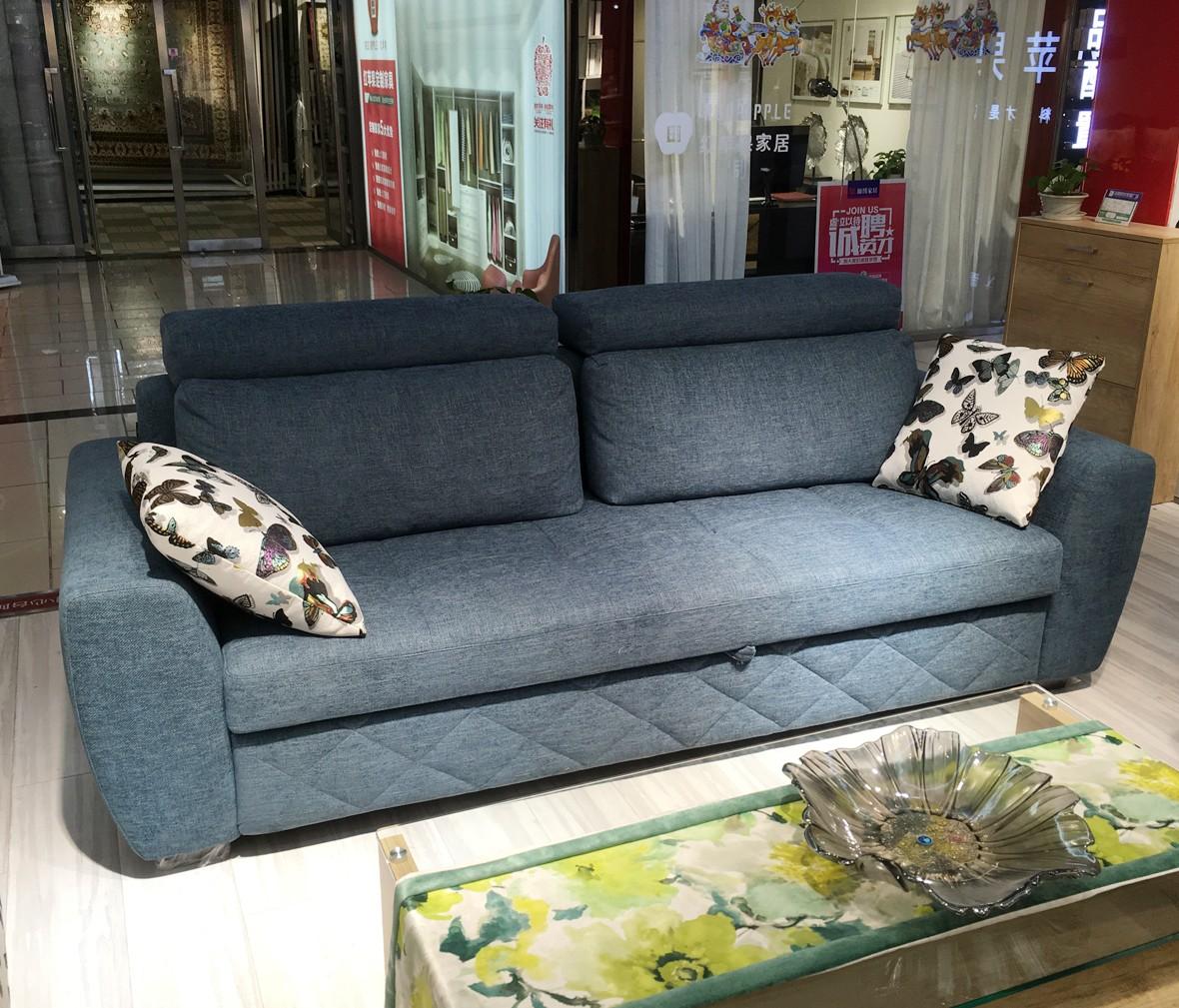 意风家具 811-30特价沙发床 优质沙比利木