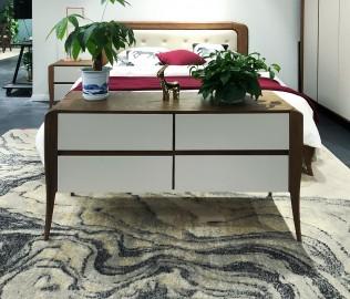 华鹤家具,床边柜,实木家具