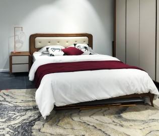 华鹤家具,双人床,实木家具