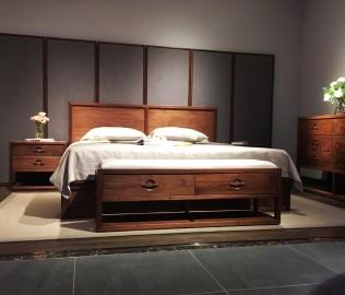 祥华坊,实木家具,床尾凳