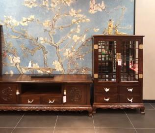 易红堂,展示柜,榆木材质