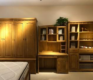 强力家具,书架,榆木书架