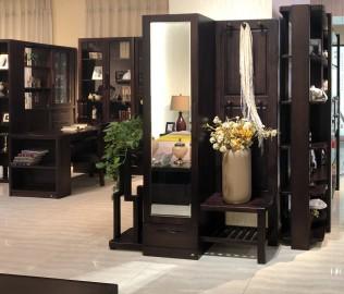 华日家具,门厅柜,现代中式