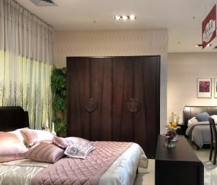 华日家具,衣柜,现代中式