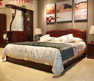 天坛家具,双人床,现代中式