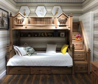 洛可小城,双层床,儿童家具
