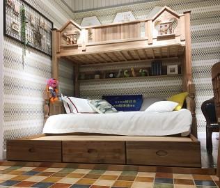 洛可小城,三抽拖床,儿童家具