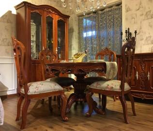 晓月蕾曼,圆餐桌,餐厅家具