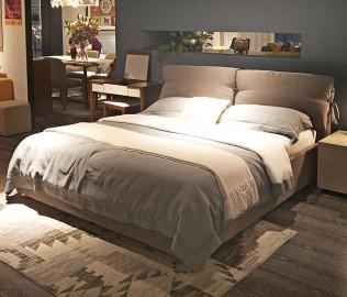思利明兰,双人床,布艺床