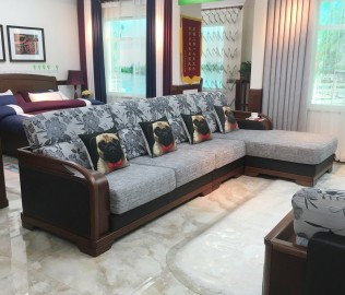 双叶家具,转角沙发,客厅家具