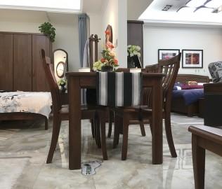 双叶家具,一桌四椅,餐厅家具