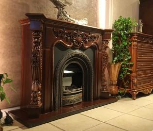 晓月蕾曼,壁炉,客厅家具