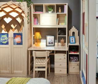 松果,书桌上架,儿童家具