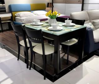 红苹果,一桌四椅,餐厅家具