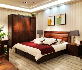 江南宜家,卧室套装,实木家具