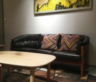 曲美家居,三人沙发,客厅家具