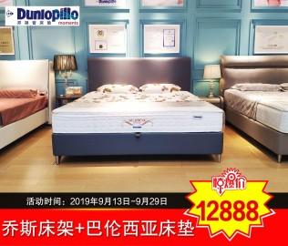 邓禄普,卧室套餐,双人床