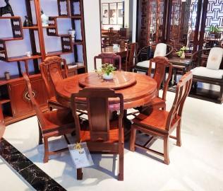 明堂红木,餐厅套餐,一桌六椅