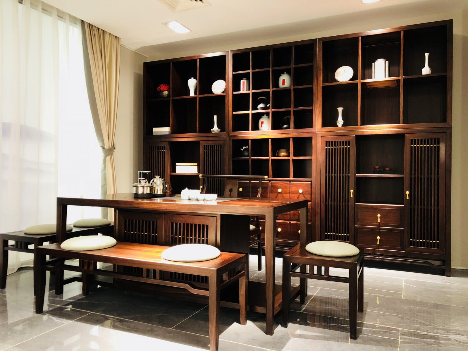 百强坤伦系列材质与设计的碰撞 解读新中式家具