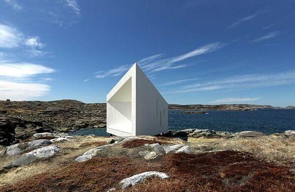 加拿大纽芬兰fogo岛上的三角形工作室