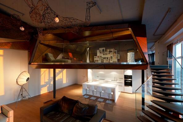 莫斯科loft公寓设计图片