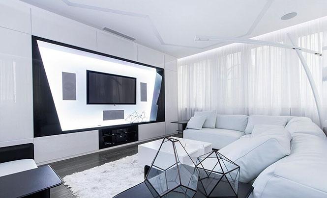 黑白配 超现实主义的前卫住宅设计