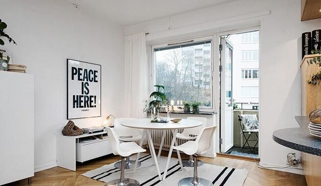 简约北欧风格公寓客厅效果图