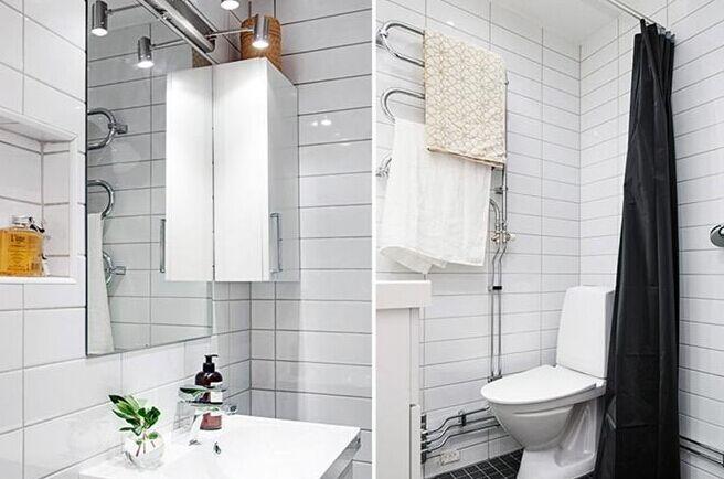 简约北欧风格公寓浴室效果图图片