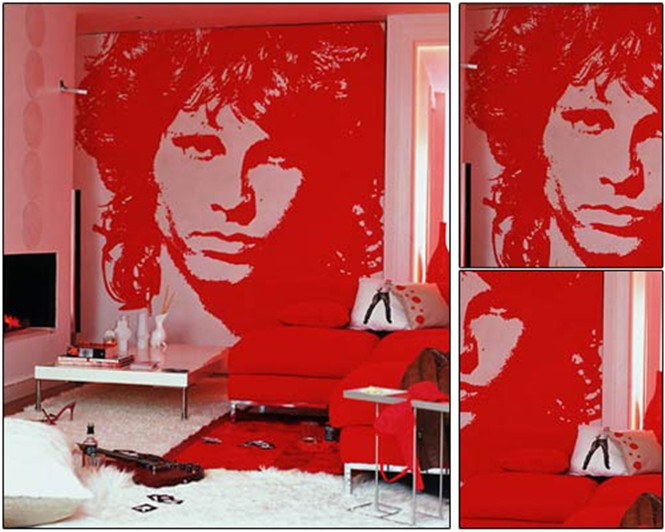 唯美的手绘墙面风景 给居室增添了无限暖意和生机