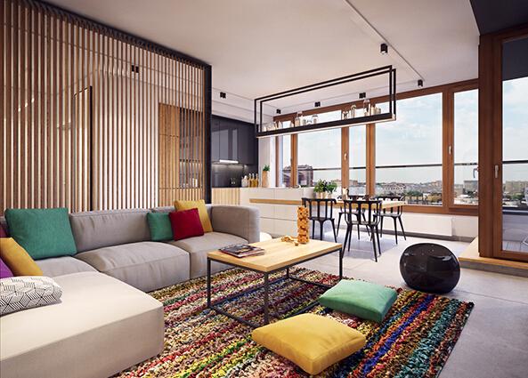 波兰公寓装修效果图