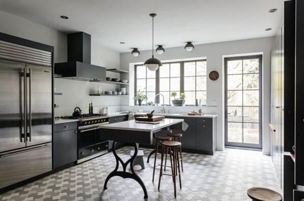 厨房也要高大上 纽约联排别墅设计