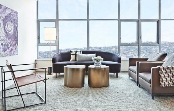 现代风落地窗公寓 在家也能俯瞰美景