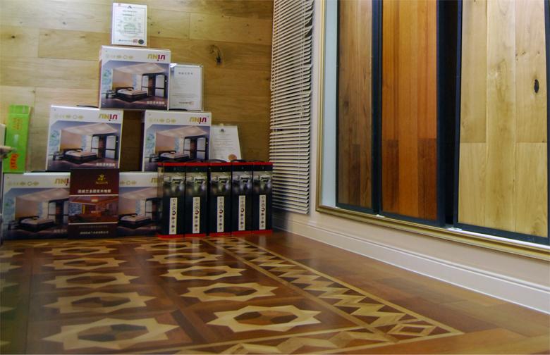 安佳圣木地板实体店铺